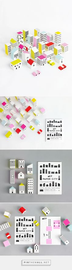 PAPER CITY | 24 cards with pre-cut and pre fold lines | Ready to make building…