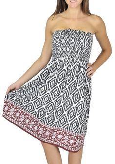 One-size-fits-most Tube Dress/Coverup - Mayan Wood Black Alki'i. $19.99