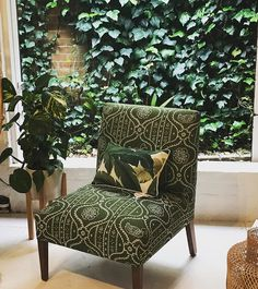 You'll find this showstopper amongst the greenery at our Sydney Showroom! 🌿 Our classic FENWICK has been given a fun and colourful update in Anna Spiro Textiles 'Kaka Duck' fabric.  Are you crushing on it as much as I am? 💚 www.heatherlydesign.com.au Anna Spiro, Dream Master Bedroom, Art Series, Your Crush, Showroom, Greenery, Sydney, Accent Chairs, Bedding