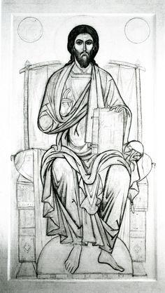 Byzantine Icons, Byzantine Art, Religious Icons, Religious Art, Jesus Drawings, Greek Icons, Paint Icon, Pictures Of Jesus Christ, Jesus Art