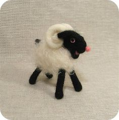 A Ram and an article! (violetpie) Tags: felting craft mohair article etsy ram bjdcollectasy