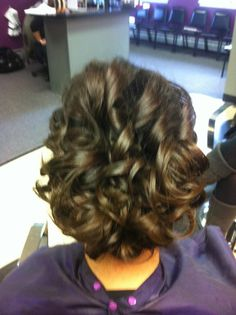 loose curl updo, back