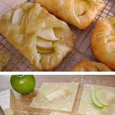 Apple Brie Tarts I think pears would pair better with the Brie for an appetizer instead of dessert.
