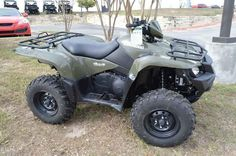 New 2015 Suzuki KingQuad 500AXi ATVs For Sale in Texas. 2015 Suzuki KingQuad 500AXi, FEES AND TAXES NOT INCLUDED, REBATE INCLUDED IN PRICE 2015 Suzuki KingQuad 500AXi The rugged and reliable KingQuad 500AXi receives a few new changes that provides smoother acceleration, quicker throttle response, and a stronger feel in the mid-high RPM range. The front end of the quad gets a newer aggressive stance while side panel change allows you to easily check your oil level without removing any body…
