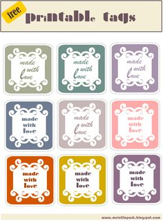 free made with love tags – printable gift labels – ausdruckbare Geschenkettiketten – freebies | MeinLilaPark