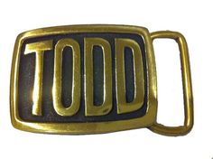 Vintage TODD Name Belt Buckle by StaghoundBuckles on Etsy