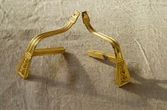 French vintage brass curtain rod holders / pair of by BOULOTDODO