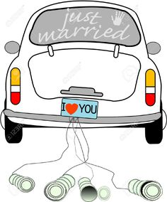 Stickdatei Just Married Auto Von LieblingsTante Auf DaWandacom Applique Pinterest