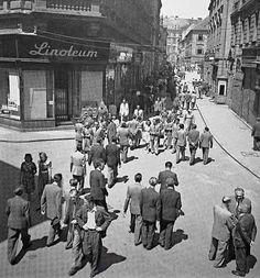 korzo Old Street, Bratislava, Old Photos, Nostalgia, Street View, Times, Squares, Retro, Google