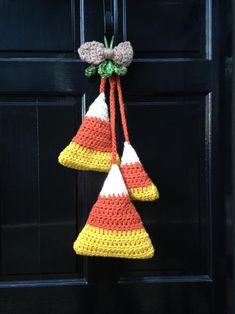 of Free Crochet Patterns Crochet Fall, Holiday Crochet, Halloween Crochet, Halloween Crafts, Free Crochet, Halloween Ideas, Door Hanging Decorations, Scary Halloween Decorations, Spooky Scary