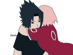 Sasuke and Sakura from Naruto.