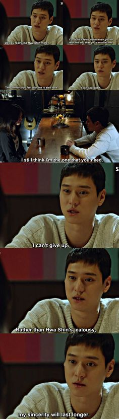 Poor Jung Won!! I feel so bad for him. He is such a warm person, a good friend and an even better boyfriend and still Pyo Na Ri selects that jerk Hwa Shin over him. Ugh!! KDrama heroine!! Why do you do this??   Jealousy Incarnate ep 19  Image Courtesy: Kissasian.com