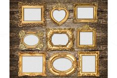 Check out Baroque style golden frames PNG by LiliGraphie on Creative Market