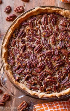 This is my favorite pecan pie recipe for many reasons. A little cinnamon, vanilla, melted butter, toasty pecans, homemade flaky crust... I could go on and on.