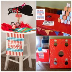 Carnival circus birthday party