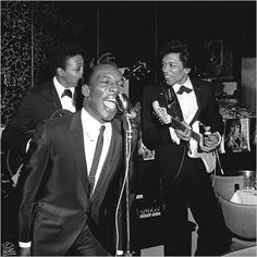 Jimi Hendrix and Wilson Pickett at an Atlantic Records release party .
