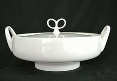 Iroquois Ben Seibel White Inheritance Bowl/Casserole/Handle &.Lid-Mid Century in Pottery & Glass, Pottery & China, China & Dinnerware | eBay
