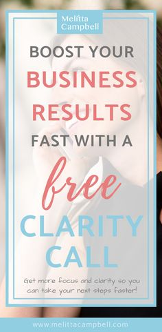 If you are feeling lost or overwhelmed, it's probably because you don't know what steps to take next in your business. In this free Clarity Call, we'll discuss your goals, identify what's standing in your way and map out your next steps. If you are serious about starting or growing your business, this call will help you get there faster. Business Planning, Business Tips, Online Business, How To Get Clients, Feeling Lost, Starting Your Own Business, Business Opportunities, How To Make Money, Clarity