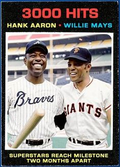 """Hank and Willie... Don't even NEED their last names! I know there are some other great """"Hanks""""  (Greenberg) and """"Willies"""" (Stargell), but those are the top """"Family-Feud"""" type answers for those names! LOL"""