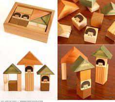 Wooden blocks by Kaya Doi.