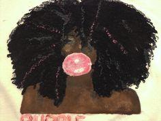 Black Girl Pink Bubblegum Bubble T-shirt Natural Hair Tshirt  http://www.shorthaircutsforblackwomen.com/black-hair-growth-pills/