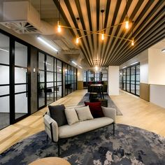 Take a look at the way we transform a commercial space into something dynamic, practical and creative. Interior Design Studio, Cafe Design, House Design, Commercial Office Design, Ikea Living Room, Workplace Design, Japanese Interior, Commercial Interiors, Decoration