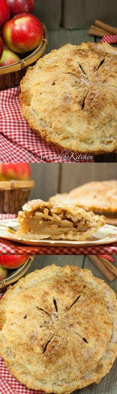 Apple pie just like Grandma made with incredibly flaky pie crust!