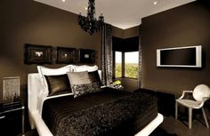 colors for master bathroom with black chandalier