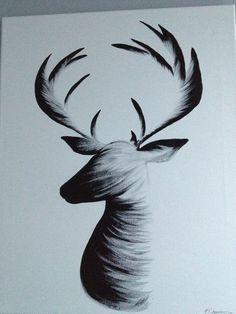Deer painting: