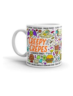 A haunted diner, Creepy Crepes has been feeding citizens and visitors to the village of Peyroux for decades. The food is cursed, the staff is undead, and the mugs are beautiful.