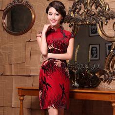 Wonderful Red Luxury Classical Cheongsam - Qipao - Cheongsam - Women