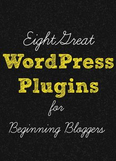 8 Great Wordpress Plugins for Beginning Bloggers by Jessica of Chaos & Love | In The Next 30 Days