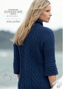 Cleckheaton Superfine - Aran Jacket Pattern, AU$7.00 (http://www.cleckheatonsuperfine.com.au/aran-jacket/)