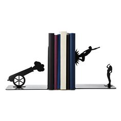 SHOT FROM A CANNON BOOKENDS   book ends, circus, handmade, metal   UncommonGoods $65.00