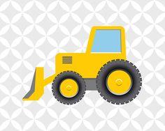 Baufahrzeuge dump Bulldozer junge Kindergarten von JJArtWorld
