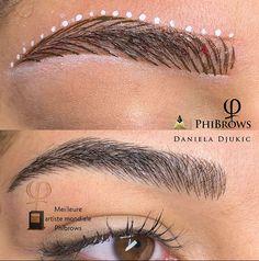 Permanent Makeup Eyebrows, Eyebrow Makeup, Phibrows Microblading, Mircoblading Eyebrows, Eyelash Extension Training, Eyebrow Design, Makeup Tattoos, Eyebrow Tattoo, Pretty Makeup