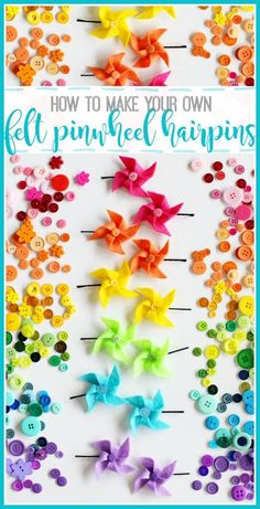 how to make your own simple Felt Pinwheel Hairpins - - Sugar Bee Crafts