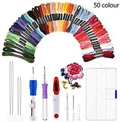 Magic Diy Embroidery Pen Set Knitting Sewing Tool Kit Punch Needle Stitching New Embroidery Needles, Embroidery Thread, Sewing Needles, Punch Needle Set, Diy Broderie, Magic Crafts, Costura Diy, Sewing Scissors, Sewing Accessories