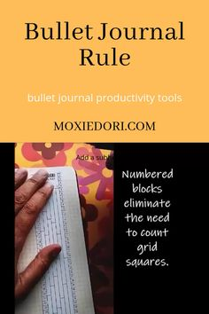 This bullet journal rule counts boxes, measures centimeters and divides your pages equally. Hop over here to check this out!