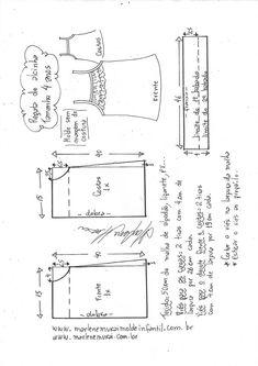 Regata de alcinhas com babado - DIY- marlene mukai - molde infantil Molde  De Roupas c62a5e1e129
