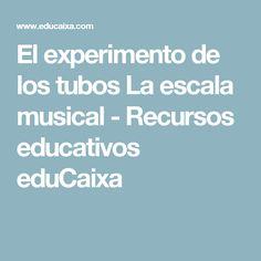 El experimento de los tubos La escala musical - Recursos educativos eduCaixa