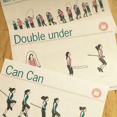 27 Rope Skipping Karten handgezeichnet. #sportunterricht #sportlehrer #sportlehrerin