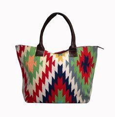 New Handmade Kilim Leather Bag Rug Handbag Shopping Bag.Everyday Women Bag #Handmade #BackpackBeachBagCrossbodyEveningBag