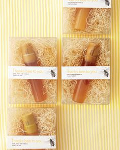 honey favors and the packaging and labeling is beautiful