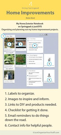 Springpad for Organizing Projects - But I still love my pinterest!