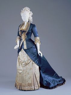 Worth reception dress, 1877-78 From the Cincinnati Art Museum... - Fripperies and Fobs