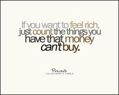 feel rich #BLESSINGS