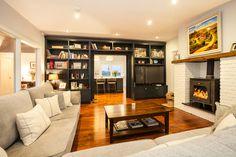 Housing - Collins, Brennan and Assosiates New England Style, Bookshelves, Bungalow, Style Inspiration, Living Room, Interior, 1970s, Ireland, Shelf