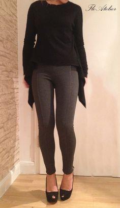 Womens Pants/Stretch Leggings/Skinny Pants/Elastic Leggings/GrayLong Leggings/Punto Milano Leggings/Women Leggings/Sport Pants/F1415 by FloAtelier on Etsy https://www.etsy.com/uk/listing/213181388/womens-pantsstretch-leggingsskinny