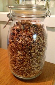 Korn, Granola, Food Inspiration, Smoothies, Side Dishes, Mason Jars, Health Fitness, Food And Drink, Lunch